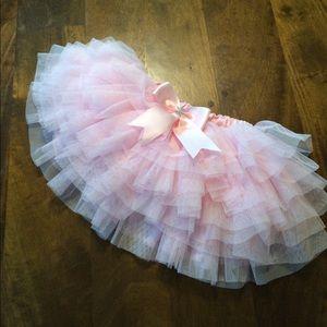 Light Pink Tulle Skirt / 1st Birthday